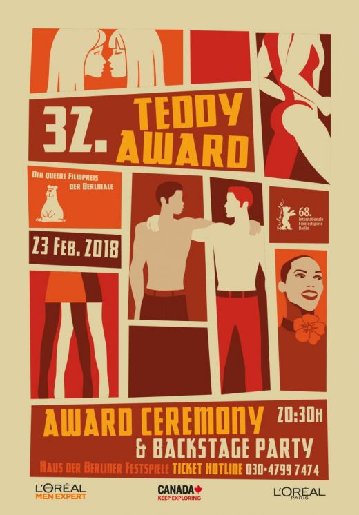 TEDDY AWARD artwork 2018 created by cabine.co.uk
